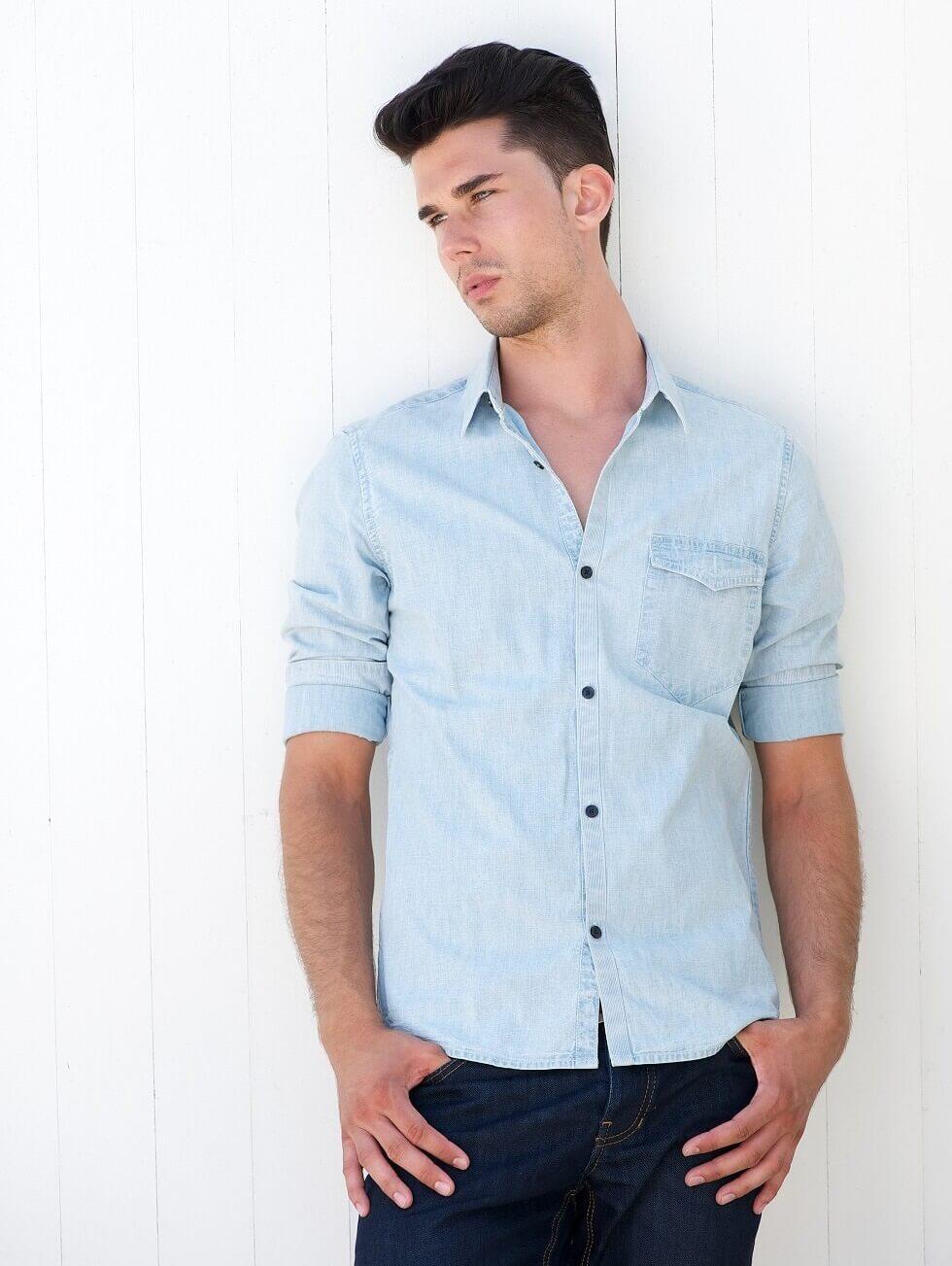 Blue Men Shirt Image 01