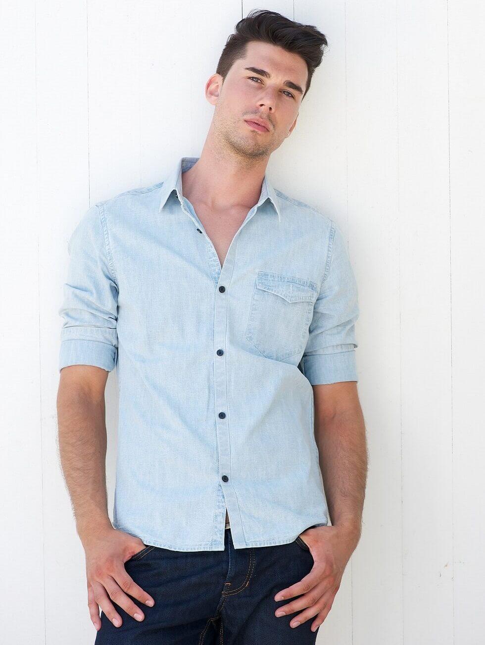 Blue Men Shirt Image 03